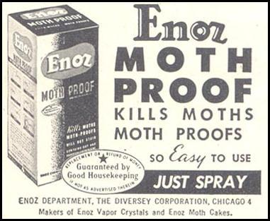 ENOZ MOTH PROOF GOOD HOUSEKEEPING 07/01/1948 p. 230