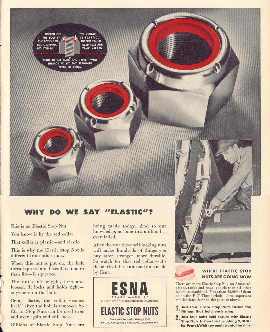 ESNA ELASTIC STOP NUTS LIFE 02/14/1944 p. 69
