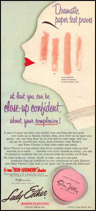 SHEER FLATTERY CREME MAKE-UP PHOTOPLAY 08/01/1956 p. 35