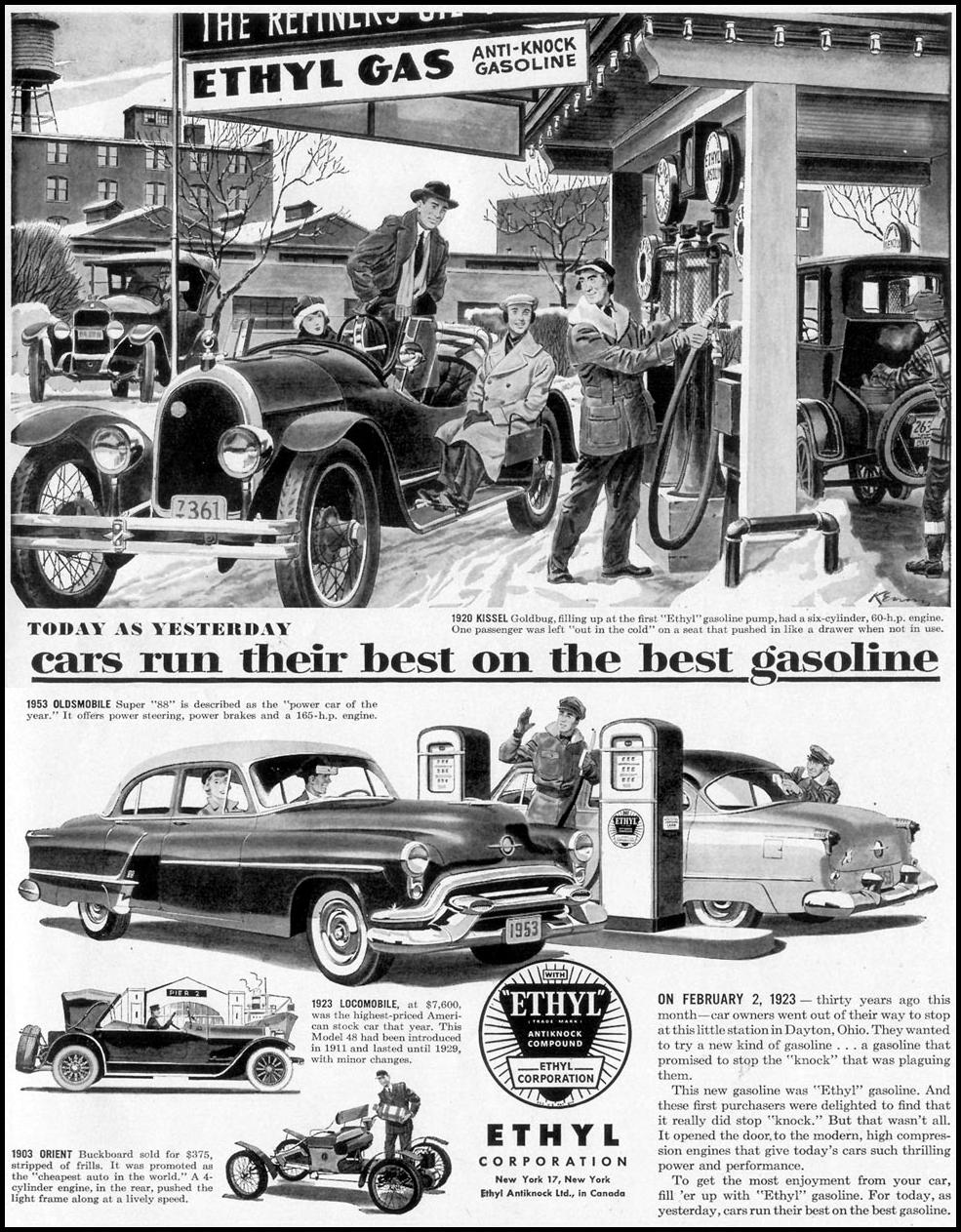 ETHYL ANTI-KNOCK GASOLINE LIFE 02/02/1953 p. 65