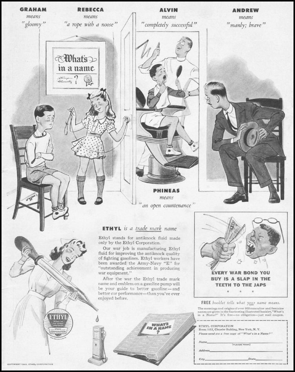 ETHYL GASOLINE LIFE 10/25/1943 p. 1