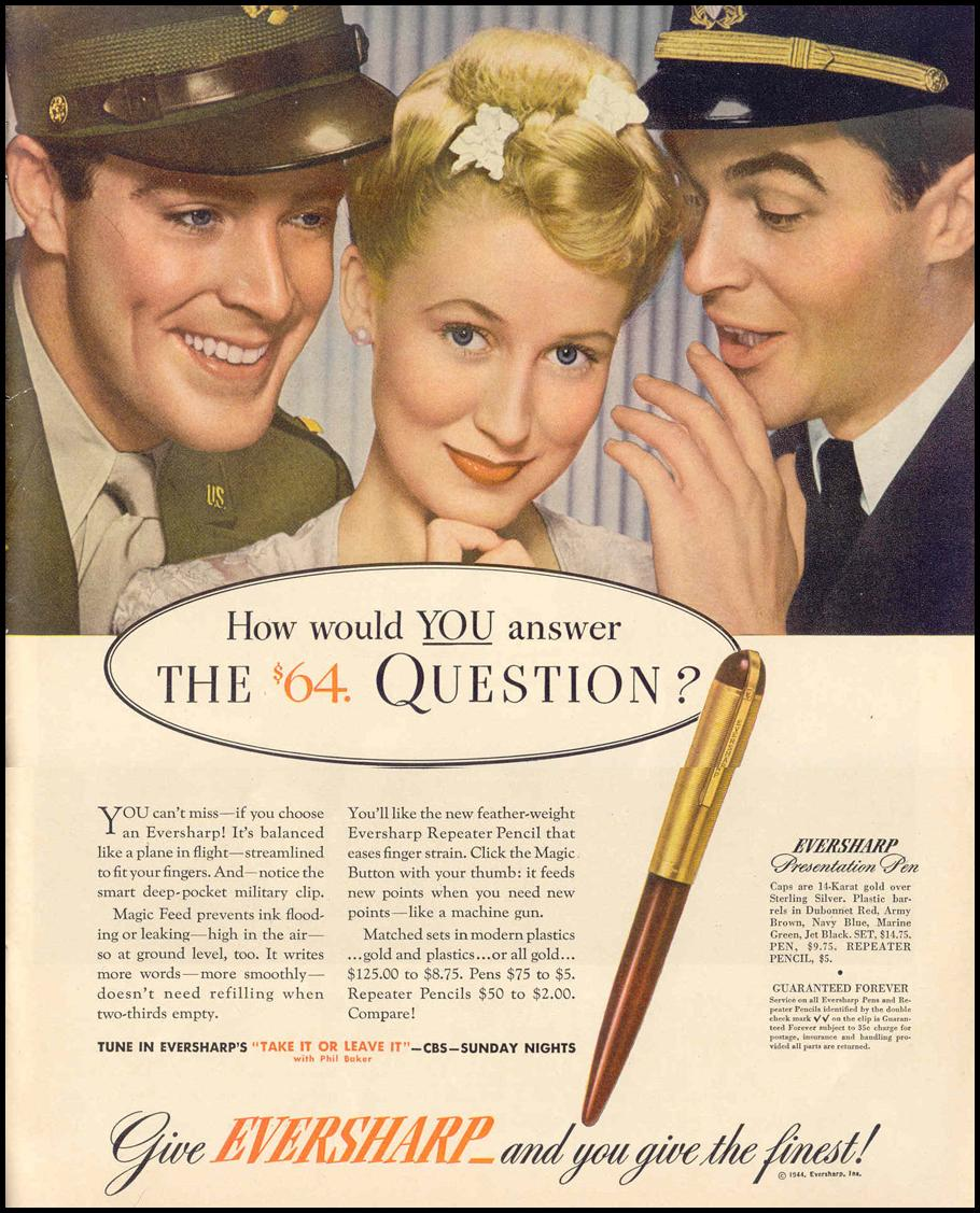 EVERSHARP PENS LIFE 02/14/1944 p. 103