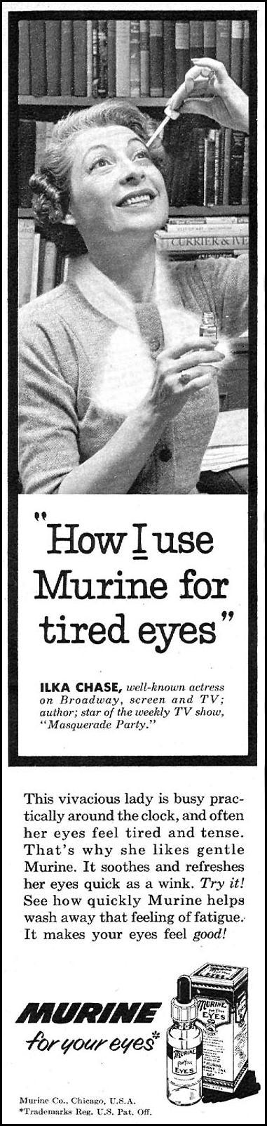 MURINE EYE DROPS FAMILY CIRCLE 01/01/1956 p. 72
