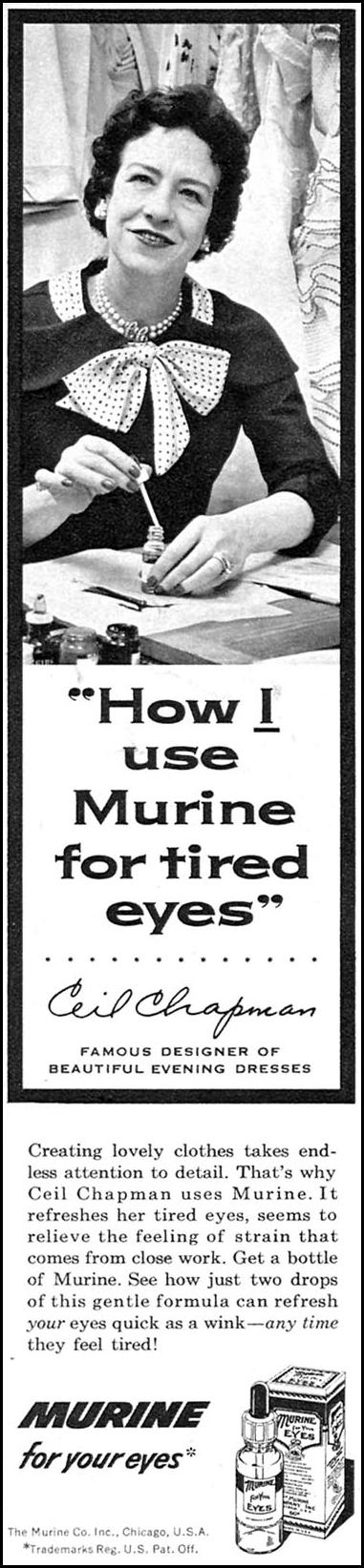 MURINE EYE DROPS FAMILY CIRCLE 02/01/1956 p. 18