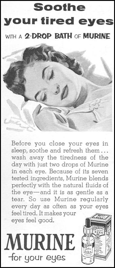 MURINE EYE WASH WOMAN'S DAY 09/01/1955 p. 124