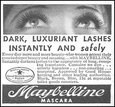 MAYBELLINE MASCARA GOOD HOUSEKEEPING 06/01/1935 p. 206