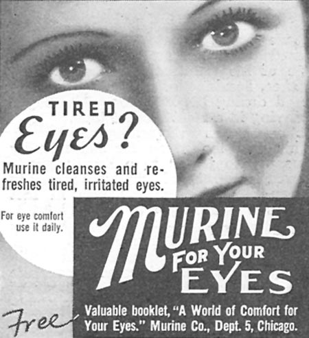 MURINE EYE WASH GOOD HOUSEKEEPING 06/01/1935 p. 209