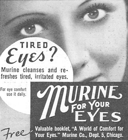 MURINE EYE WASH GOOD HOUSEKEEPING 06/01/1935 p. 209