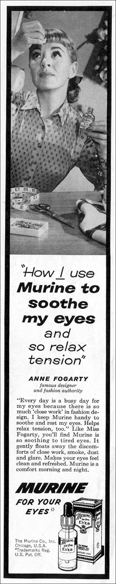 MURINE EYE WASH SATURDAY EVENING POST 05/02/1959 p. 3