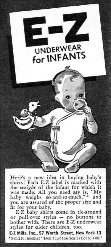 E-Z UNDERWEAR FOR INFANTS WOMAN'S DAY 07/01/1945 p. 76