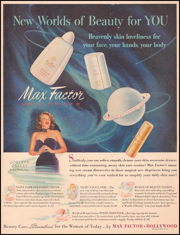 MAX FACTOR COSMETICS LIFE 04/17/1950 p. 130