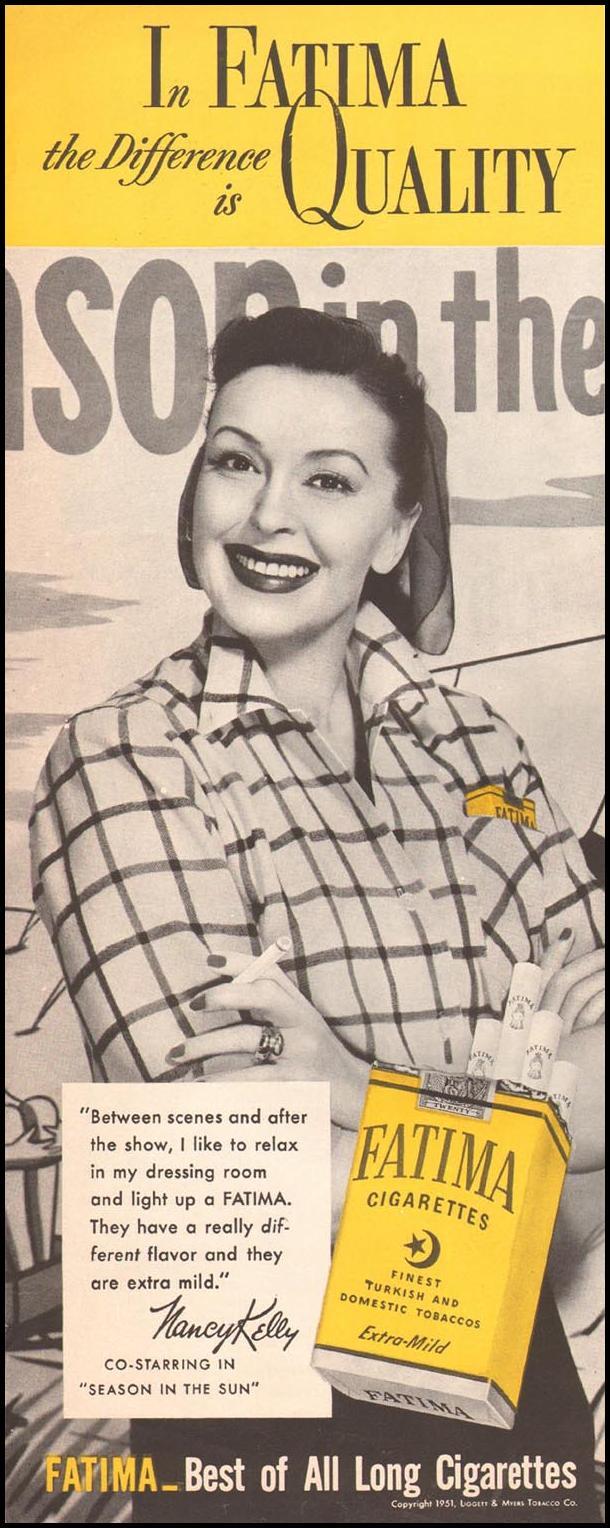 FATIMA CIGARETTES LIFE 04/30/1951 p. 4
