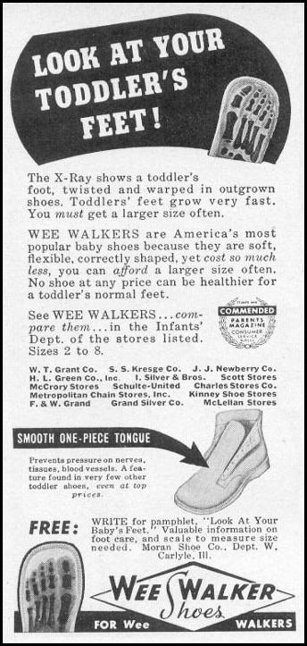 WEE WALKER SHOES WOMAN'S DAY 06/01/1946 p. 84