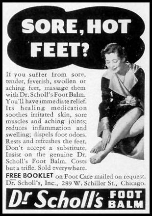 DR. SCHOLL'S FOOT BALM LIFE 07/26/1937 p. 78