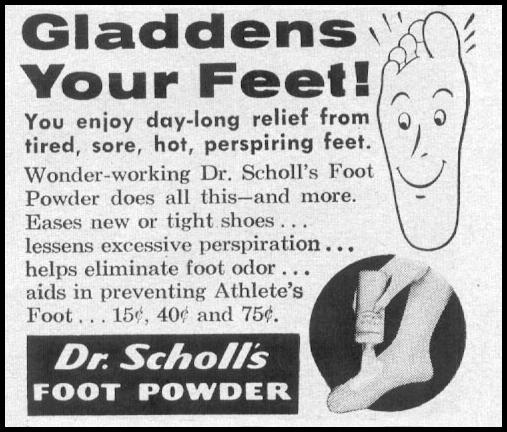 DR. SCHOLL'S FOOT POWDER LIFE 12/14/1959 p. 129