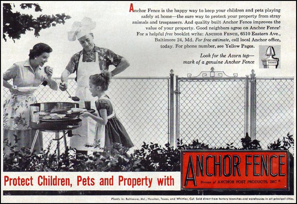 ANCHOR FENCE BETTER HOMES AND GARDENS 03/01/1960 p. 182