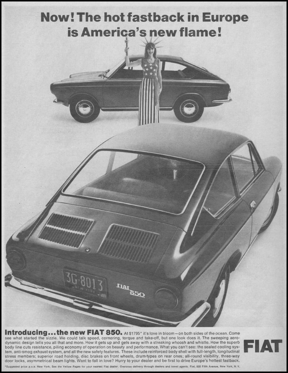 FIAT AUTOMOBILES LIFE 11/04/1966 p. 92