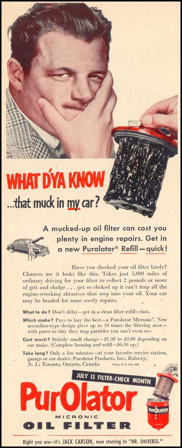 PUROLATOR MICRONIC OIL FILTER LIFE 07/30/1951 p. 88
