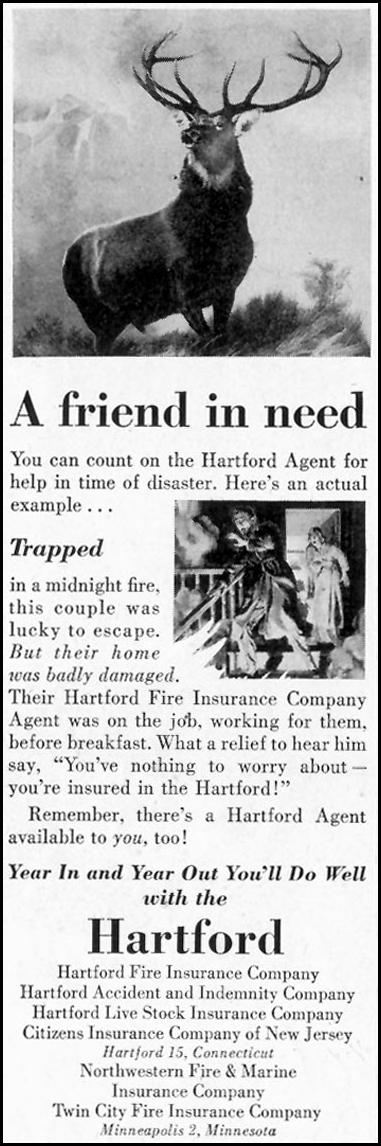 HARTFORD FIRE INSURANCE SATURDAY EVENING POST 07/23/1955 p. 100