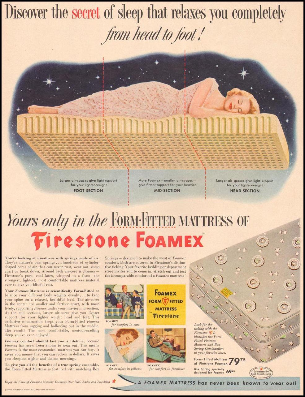 FIRESTONE FOAMEX FOAM RUBBER LIFE 10/13/1952 p. 49