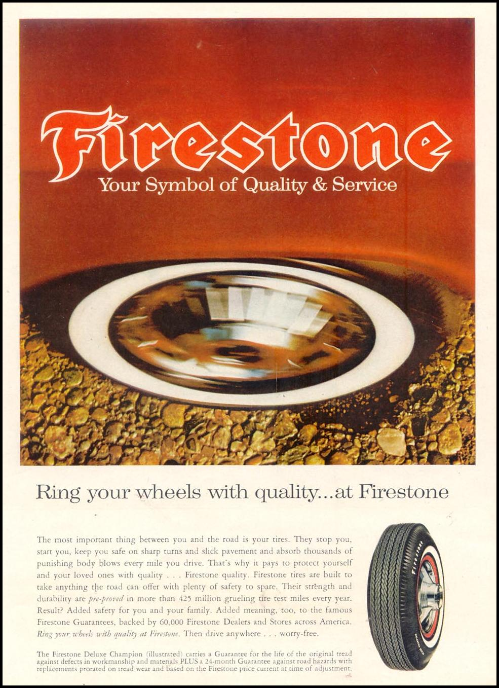 FIRESTONE TIRES TIME 10/25/1963 p. 51