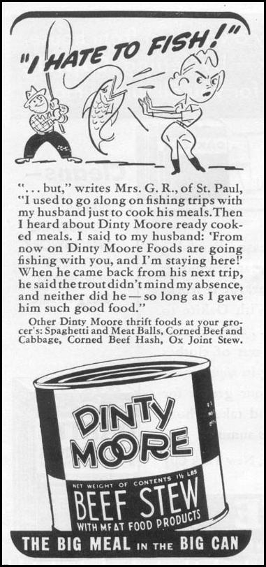 DINTY MOORE BEEF STEW WOMAN'S DAY 06/01/1939 p. 50