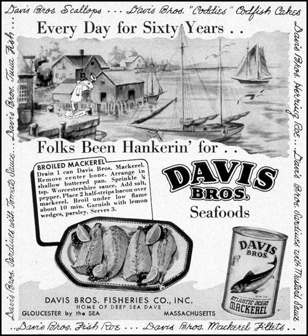 DAVIS BROS. SEAFOODS WOMAN'S DAY 09/01/1948 p. 70