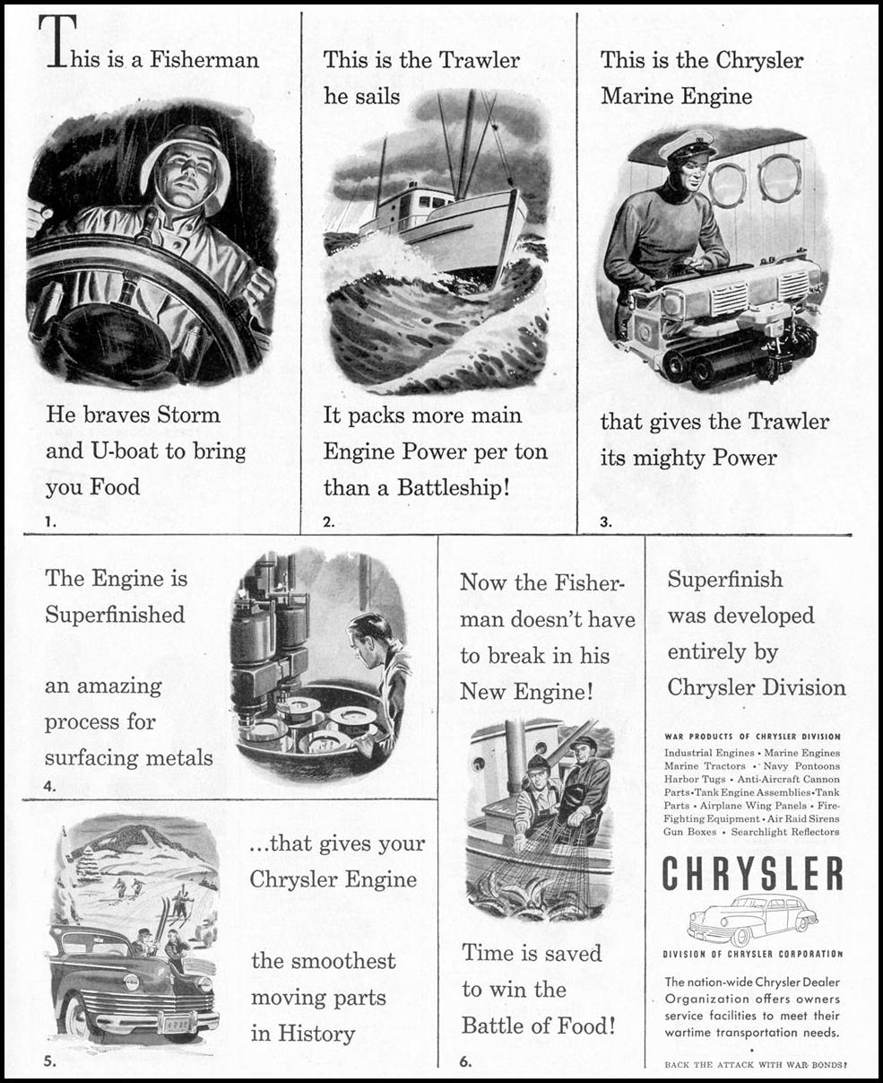 CHRYSLER WAR PRODUCTION LIFE 02/21/1944 p. 21