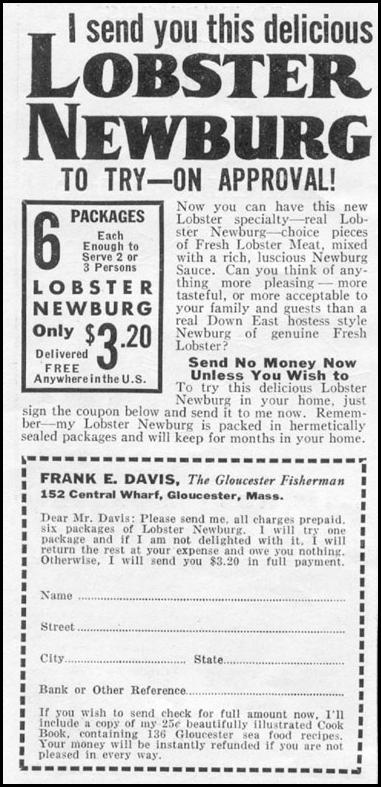 LOBSTER NEWBERG NEWSWEEK 05/04/1935 p. 36