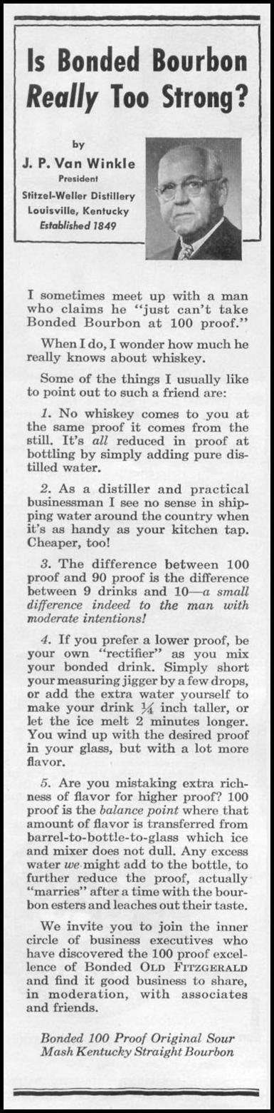 OLD FITZGERALD BONDED WHISKEY TIME 08/17/1953 p. 96