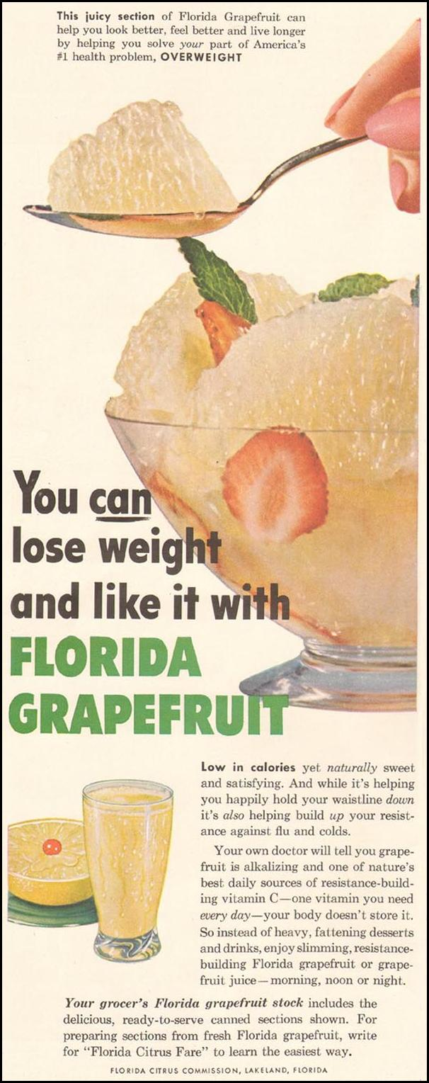 FLORIDA GRAPEFRUIT LADIES' HOME JOURNAL 03/01/1954 p. 122