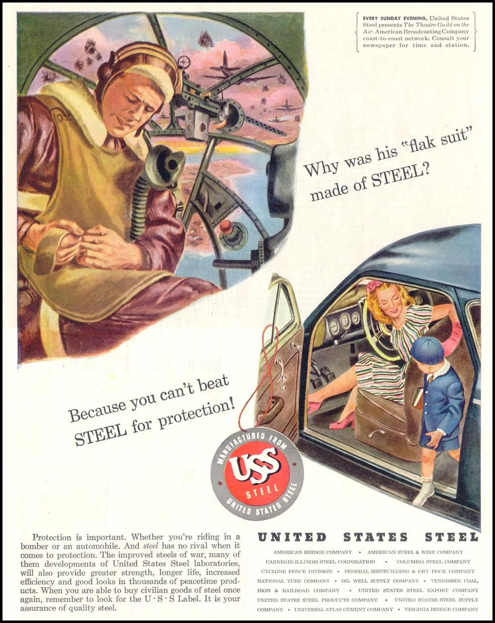 UNITED STATES STEEL SATURDAY EVENING POST 10/06/1945 p. 68
