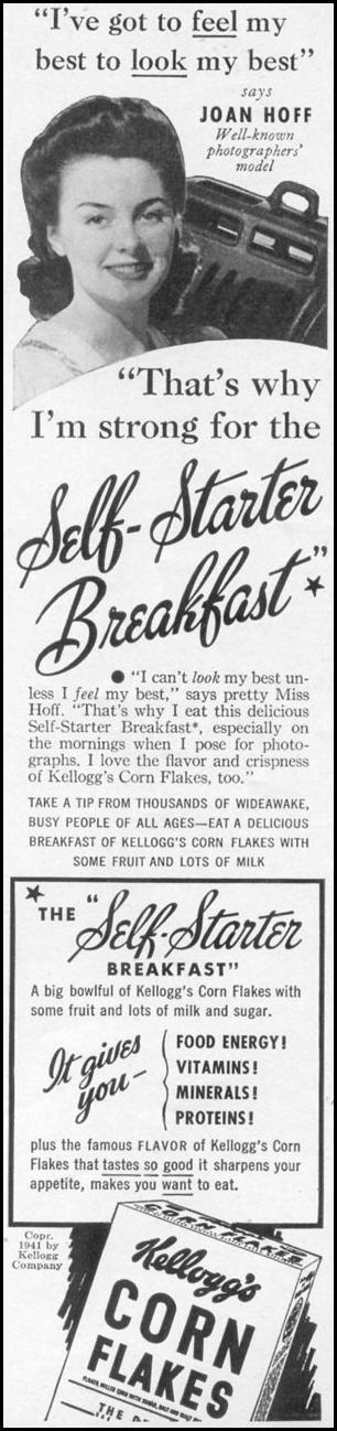 KELLOGG'S CORN FLAKES WOMAN'S DAY 06/01/1941 p. 7