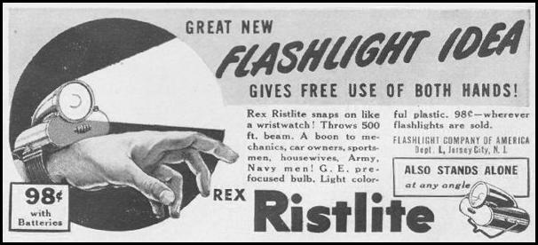 REX RISTLIGHT FLASHLIGHT LIFE 06/22/1942 p. 81