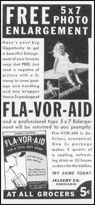 FLA-VOR-AID SOFT DRINK MIX WOMAN'S DAY 06/01/1941 p. 54