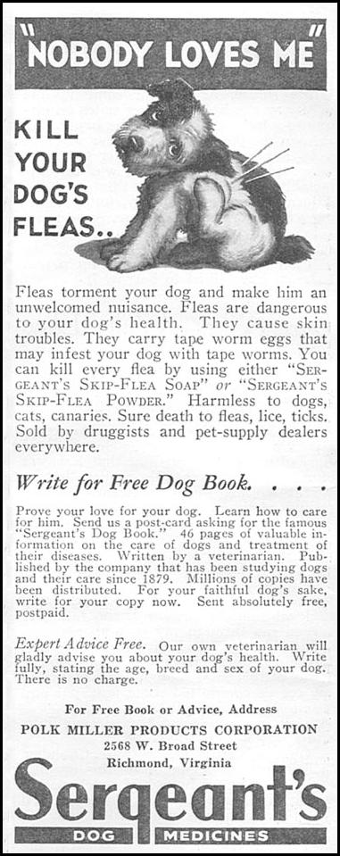 SERGEANT'S DOG MEDICINES GOOD HOUSEKEEPING 06/01/1935 p. 204