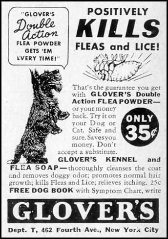 GLOVER'S KENNEL AND FLEA SOAP LIFE 07/26/1937 p. 88