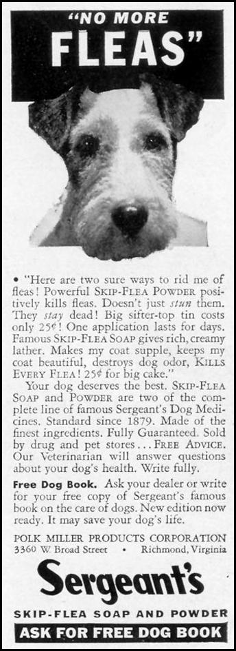 SERGEANT'S SKIP-FLEA SOAP AND POWDER LIFE 09/20/1937 p. 110