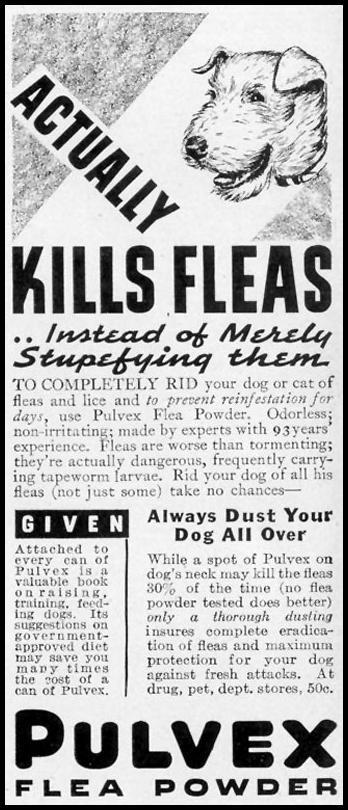 PULVEX FLEA POWDER LIFE 09/06/1937 p. 104