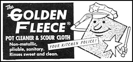 THE GOLDEN FLEECE SCOUR CLOTH FAMILY CIRCLE 02/01/1957 p. 84