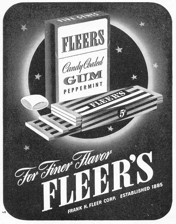 FLEER'S CANDY COATED GUM LIFE 02/14/1944 p. 54