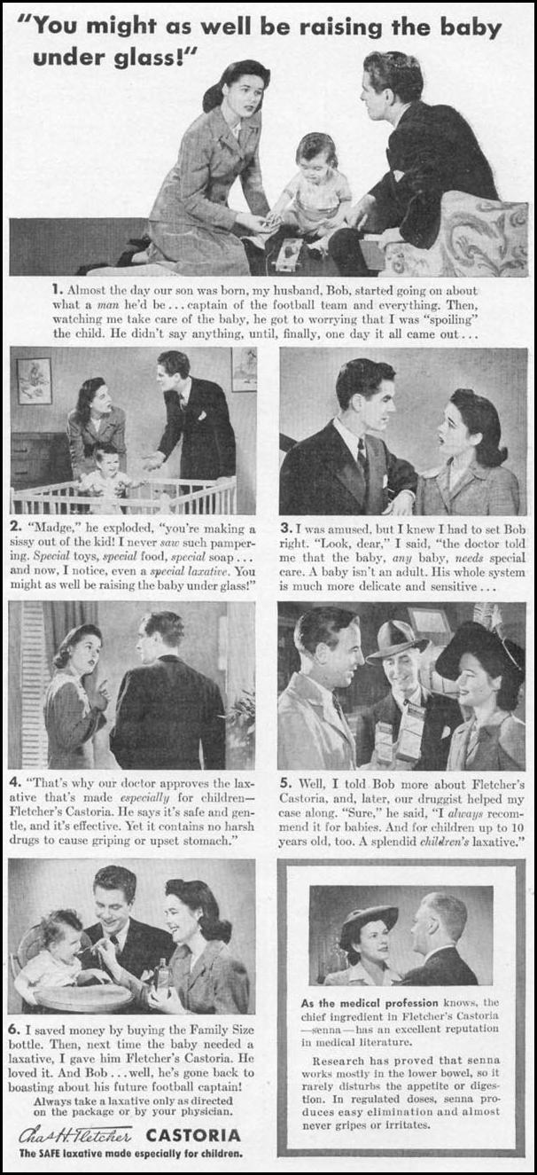 FLETCHER'S CASTORIA WOMAN'S DAY 05/01/1943 p. 57