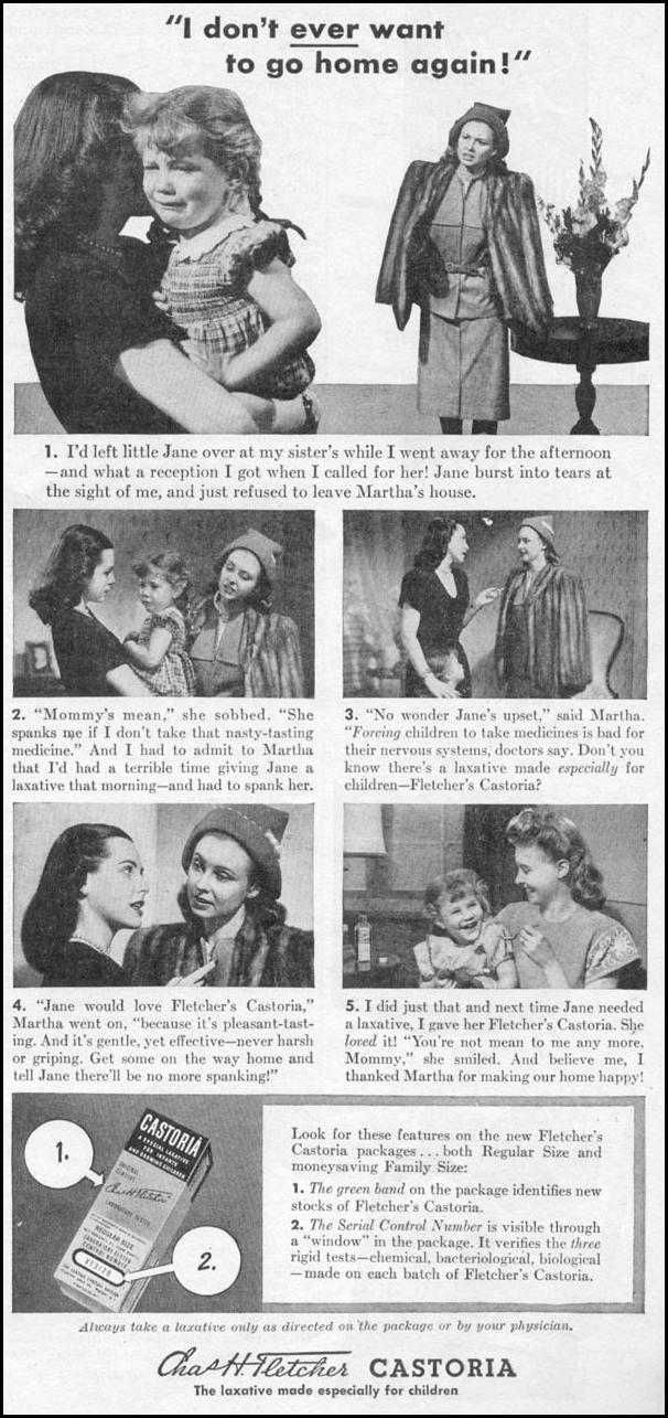 FLETCHER'S CASTORIA WOMAN'S DAY 11/01/1945 p. 99