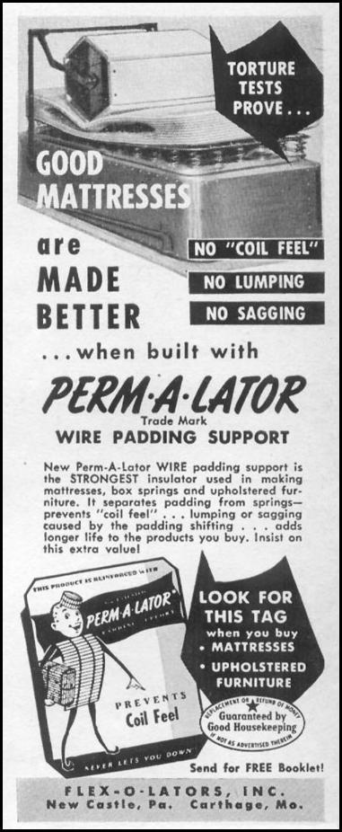PERM-A-LATOR WIRE PADDING SUPPORT LIFE 06/05/1950 p. 116