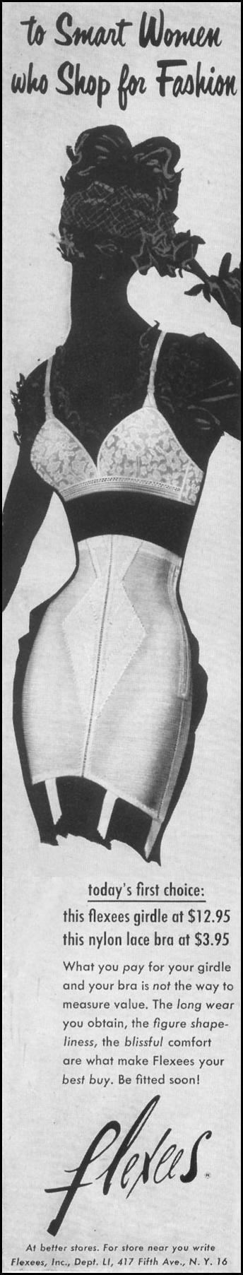 FLEXEES GIRDLES & BRAS LIFE 10/13/1952 p. 19