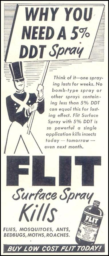 FLIT INSECTICIDE GOOD HOUSEKEEPING 07/01/1948 p. 195