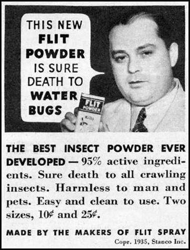 FLIT INSECTICIDE POWDER GOOD HOUSEKEEPING 12/01/1935 p. 180