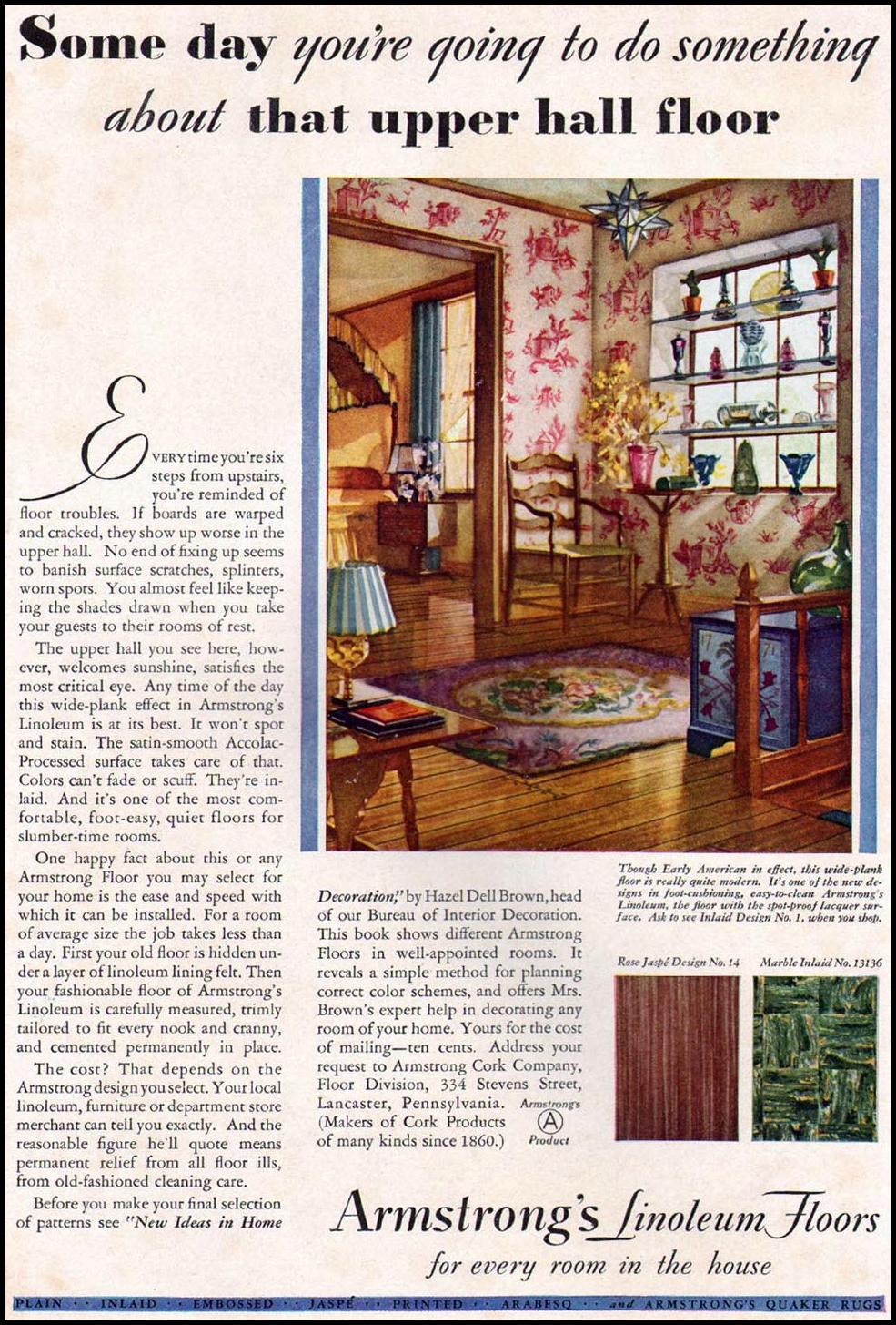 ARMSTRONG LINOLEUM FLOORS BETTER HOMES AND GARDENS 03/01/1932