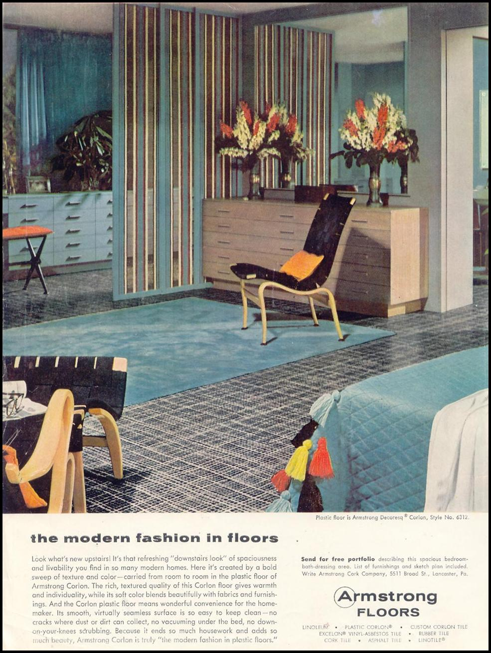 ARMSTRONG FLOORS WOMAN'S DAY 11/01/1955 INSIDE FRONT