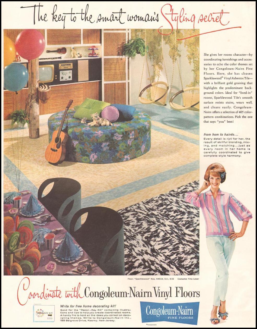 CONGOLEUM-NAIRN VINYL FLOORS LIFE 03/31/1961 INSIDE FRONT